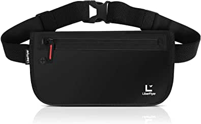 【公式】 LiberFlyer セキュリポ®︎ 【Lサイズ 高防水ライクラ素材】ウエストポーチ スキミング防止 ウエストバッグ 薄型 高収納デザイン